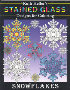 Ruth Heller's Stained Glass Coloring Book Series